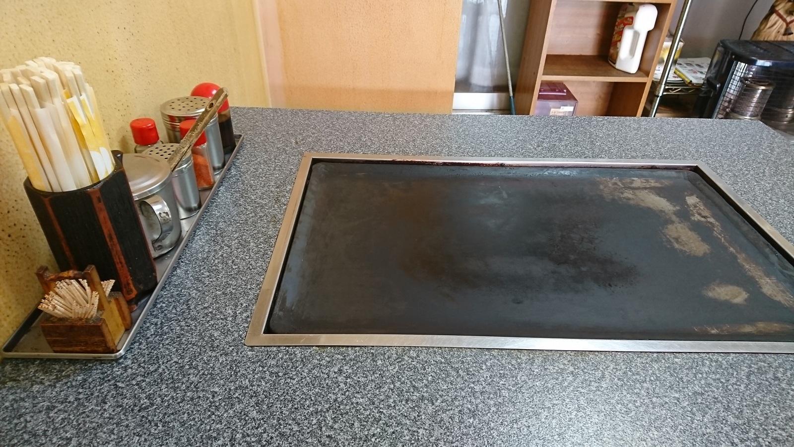 お好み焼きヒロ:鉄板